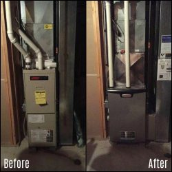 Before/After Lennox Furnace